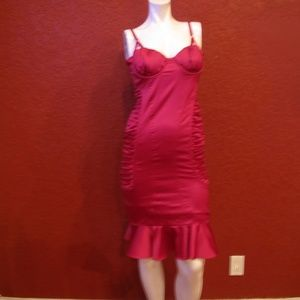 MARCIANO BODY CON RUCHED PINK DRESS SIZE S/P  $178